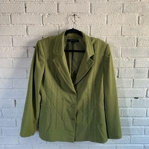 Anne Klein size 14 green jacket
